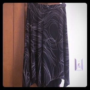 Nine West Black Scribble Skirt Size M